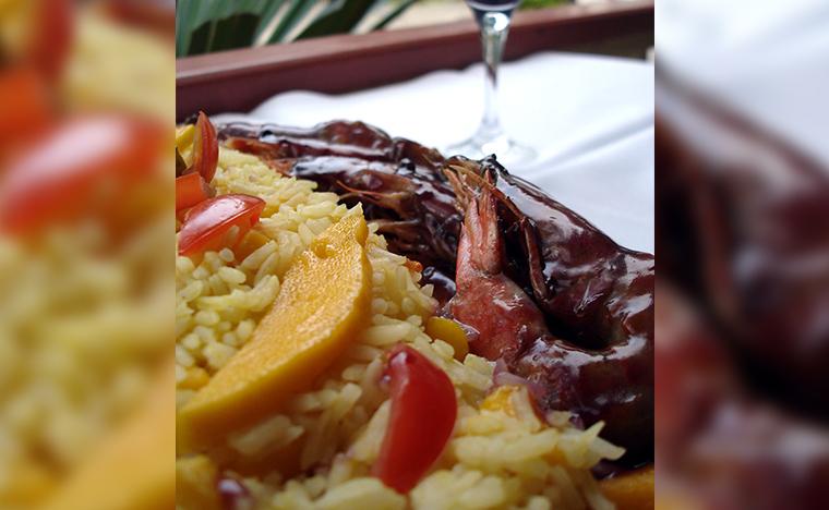 Skinna - Camarao ao vinho do Porto com arroz de manga
